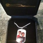 Personalized Photo Sterling Silver Dog Tag Giveaway for Father's Day – Pictures On Gold