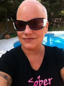 shaved-head-woman