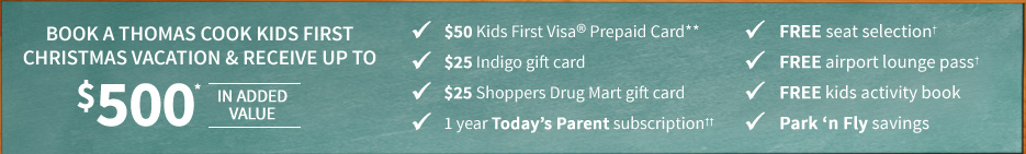 Thomas Cook Kids First Family Vacations
