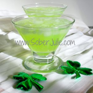 St. Patrick's Day Surprise Mocktail SoberJulie