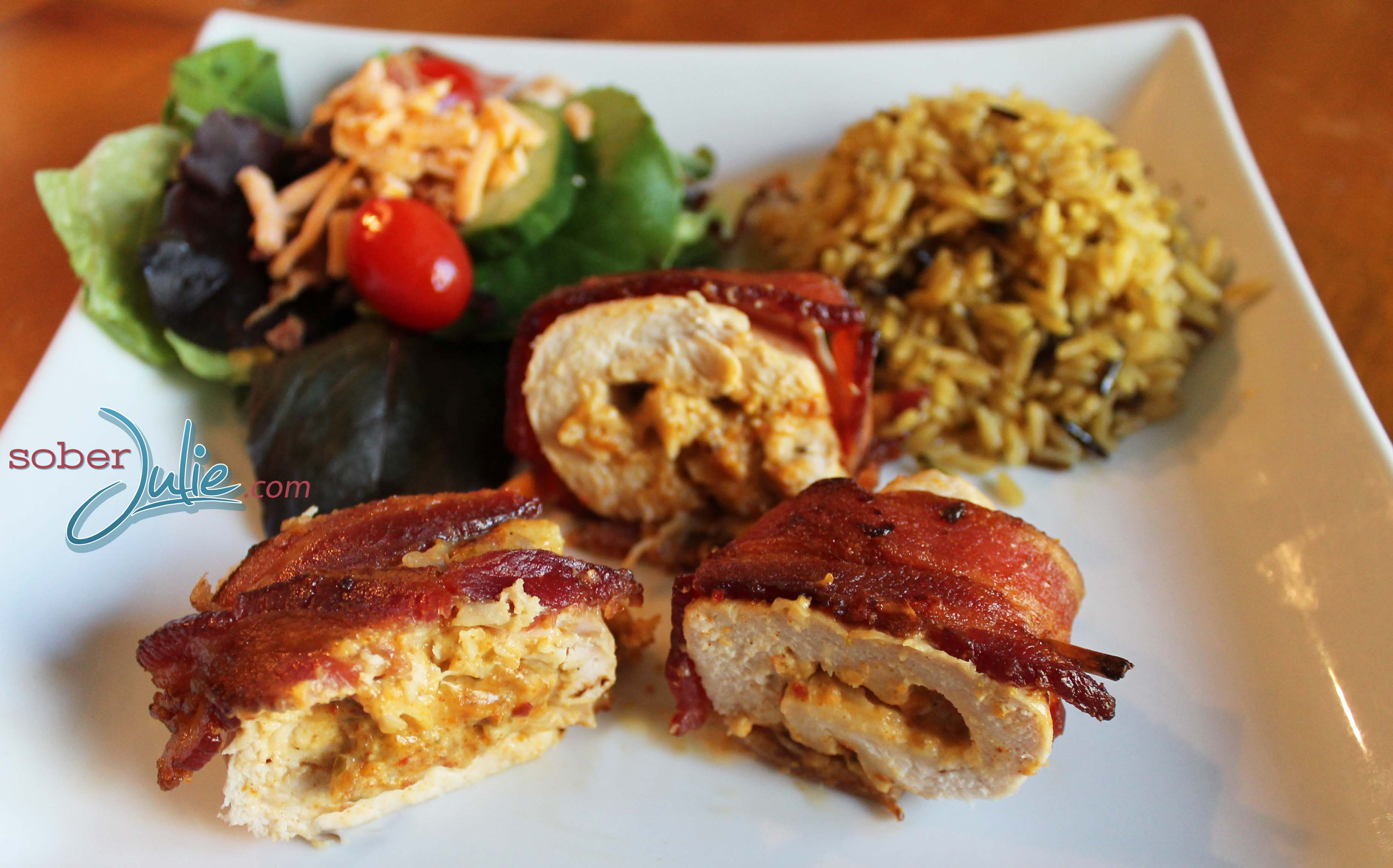 Easy Chicken Recipe Bacon Wrapped Chicken Stuffed With Roasted Red Pepper