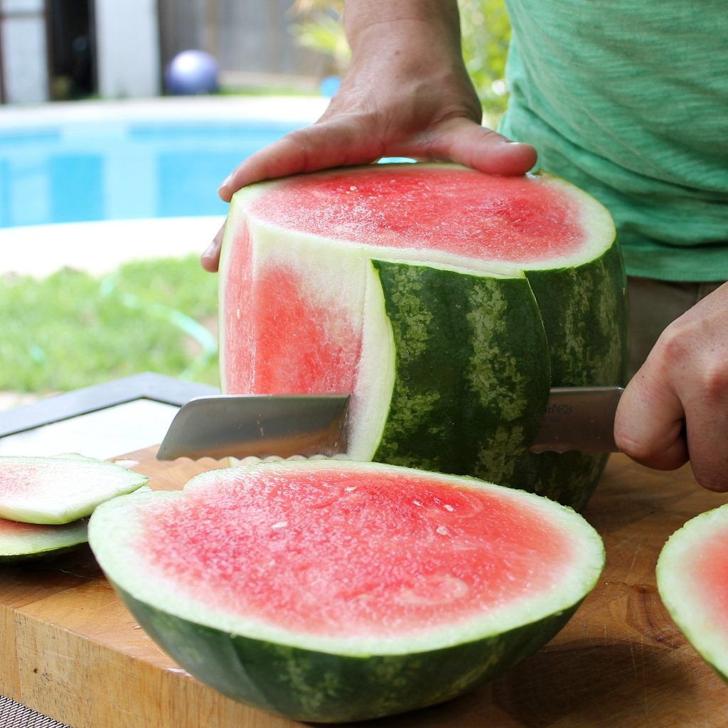 Watermelon Cake Remove Skin