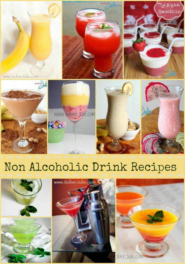 10 non Alcoholic Drink Recipes @SoberJulie.com