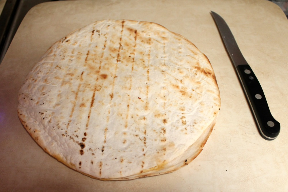 Easy Chicken Recipe Quesadilla before cutting