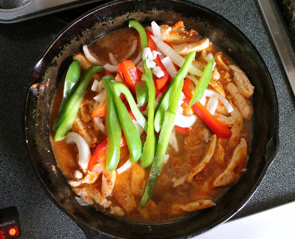 Chicken Fajita in pan