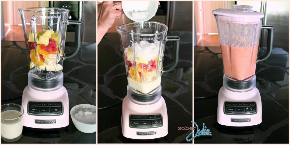 energy fruit smoothie preparation