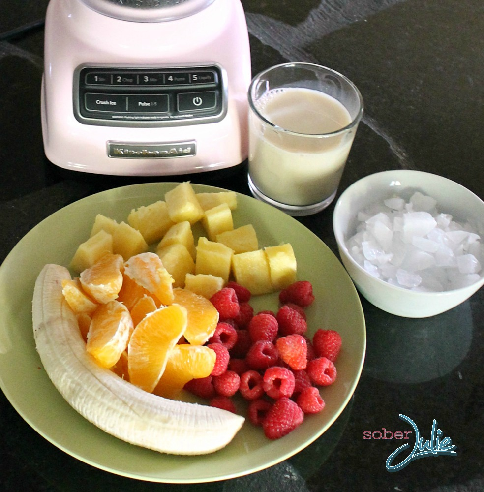 Energy Boost Fruit Smoothie Recipe - Sober Julie