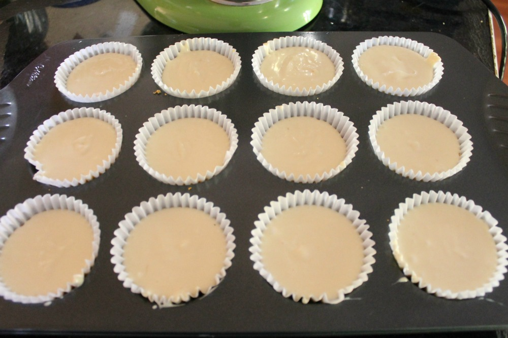 Strawberry Cheesecake Cups before baking