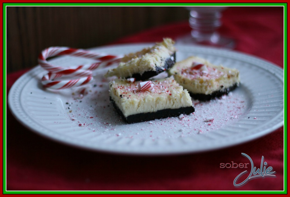 Holiday Chocolate & Candy Cane Cheesecake Bar Recipes — Dishmaps