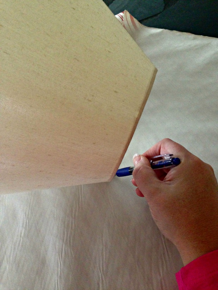 cover lampshade with wallpaper 2