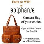 Epiphanie Camera Bags – WIN a Stylish Camera Bag #SJHolidayGiftGuide