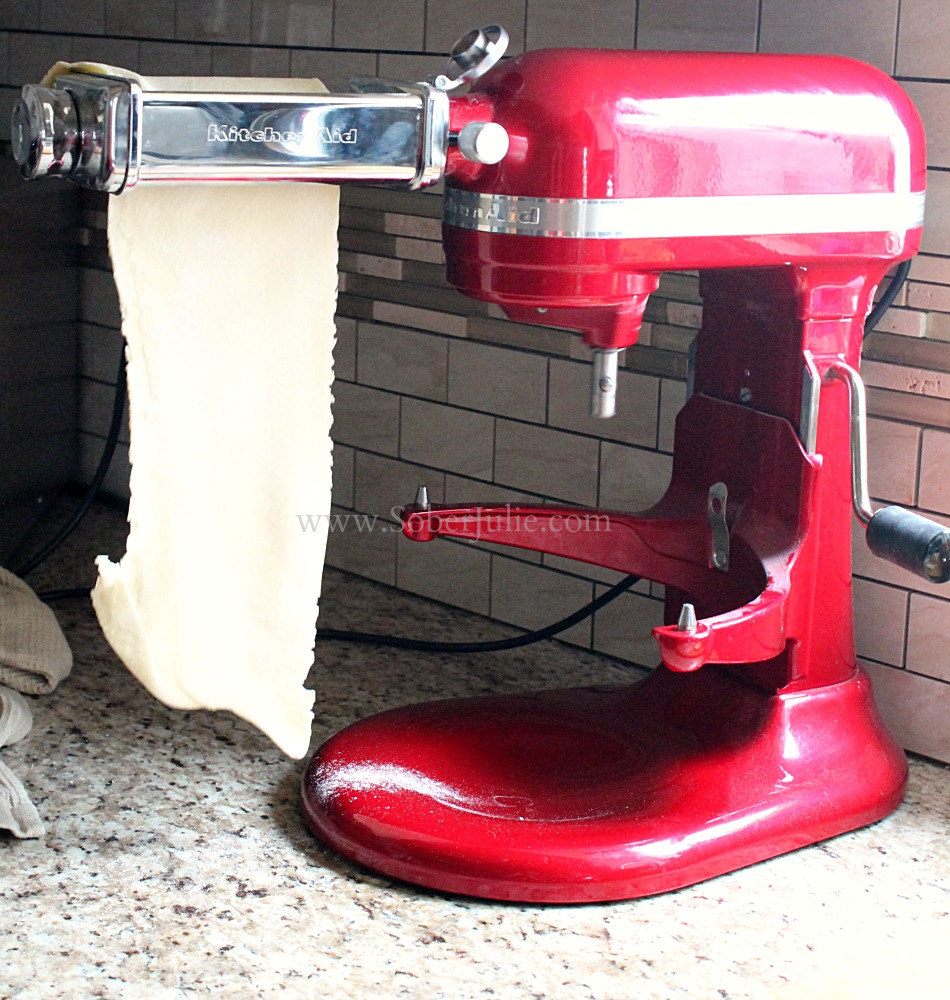 How to Make Homemade Pasta with KitchenAid Mixer - Sober Julie