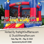 Blast Zone Magic Castle Inflatable Bouncer Giveaway!! Open to US