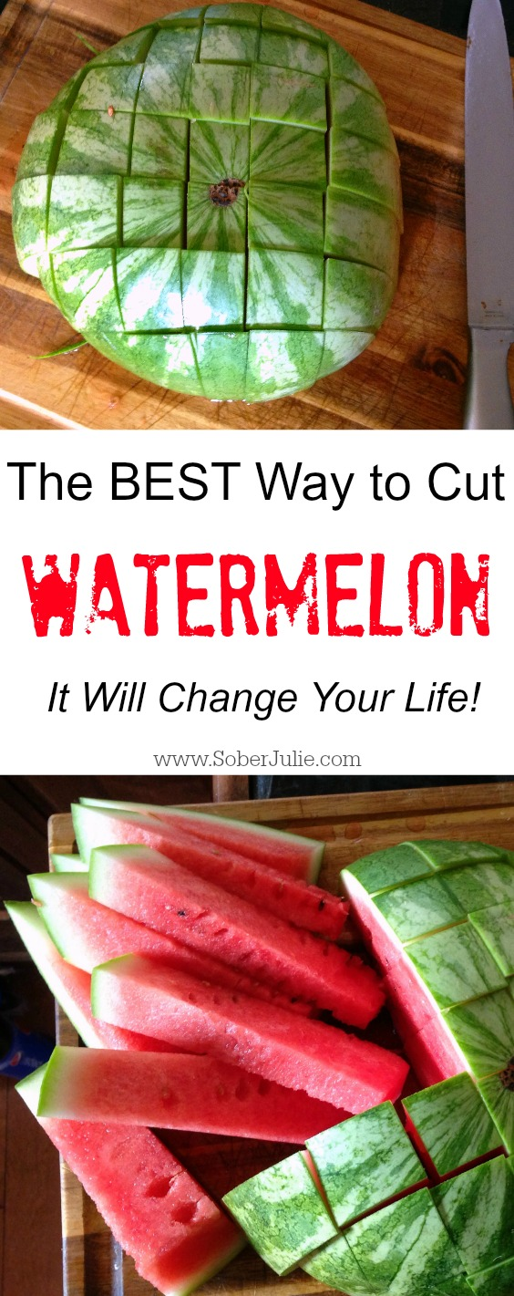 how to properly cut watermelon