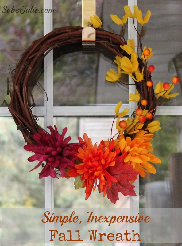 Simple Inexpensive Fall Wreth