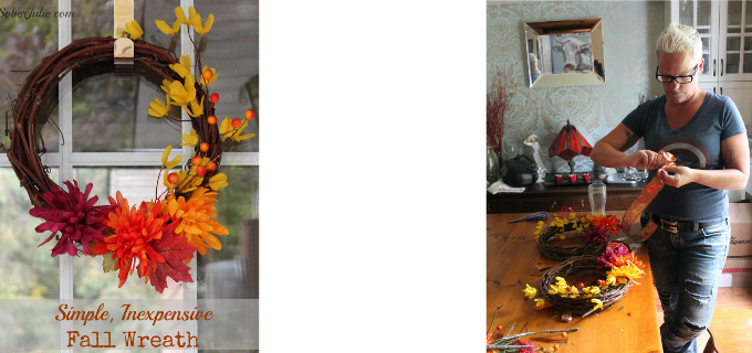 Simple, Inexpensive Fall Wreath Tutorial