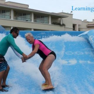 learning to surf flowrider