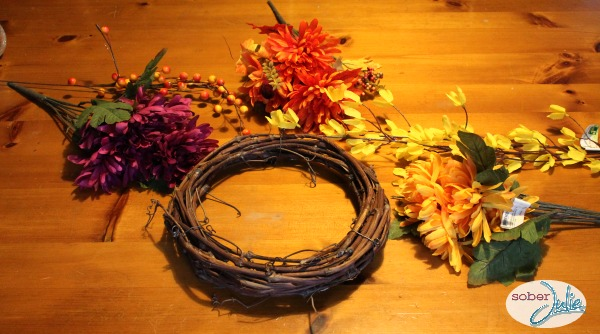 make a simple fall wreath