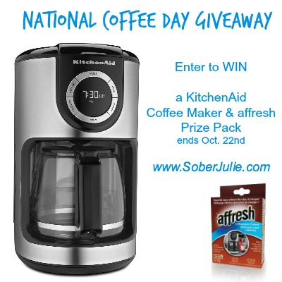national coffee maker day giveaway