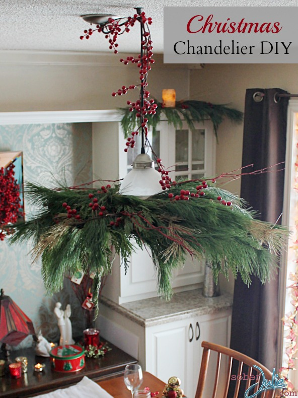 Turn A Pendant Light Into A Christmas Chandelier Diy