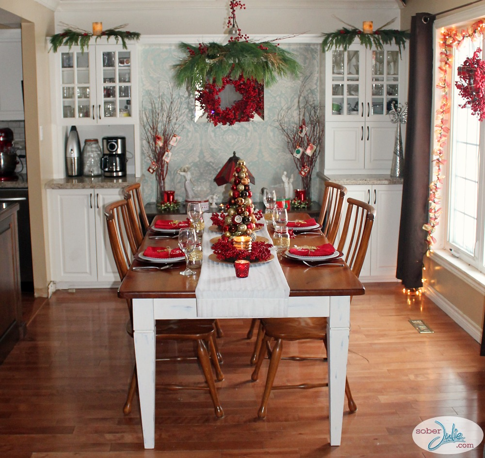 Creating a Cozy Country Christmas Dining Room - Sober Julie