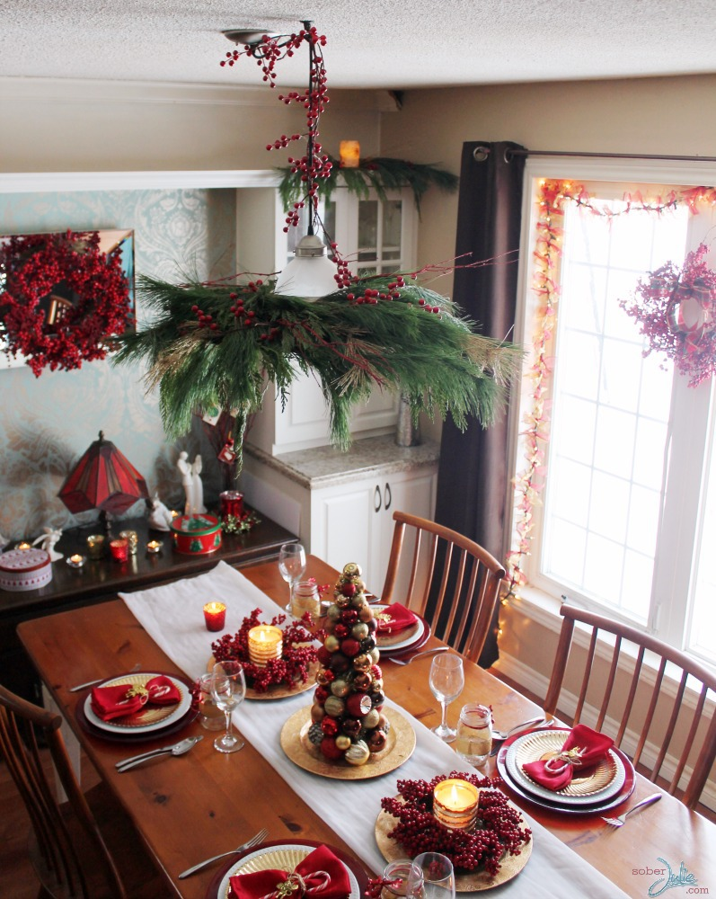 Creating A Cozy Country Christmas Dining Room Sober Julie