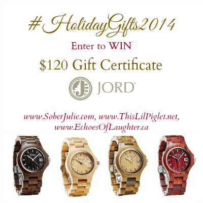 JORD WATCH GIVEAWAY – TRULY A UNIQUE, BEAUTIFUL GIFT for Christmas #HolidayGifts2014