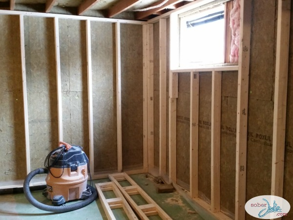 basement renovation insulation roxul framed
