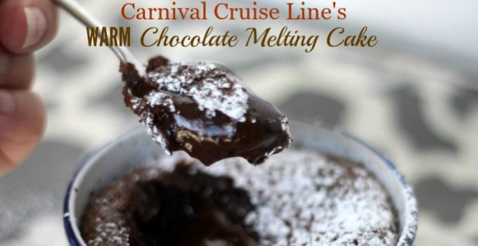 Carnival Cruise Line's FAMOUS Warm Chocolate Melting Cake Recipe