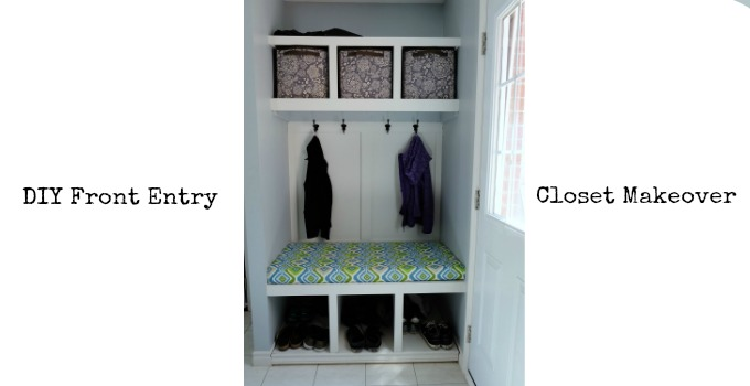 Front Entry Hall Closet Makeover