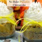 No Bake Pumpkin Cheesecake slider