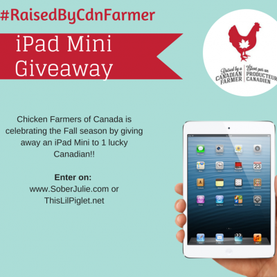 Canadian Raised Chicken –  Win an iPad #RaisedByCdnFarmer