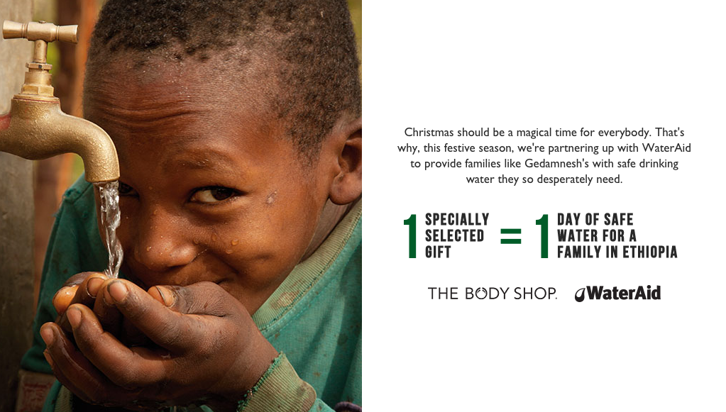 The Body Shop is Helping Others With Clean Drinking Water This Christmas