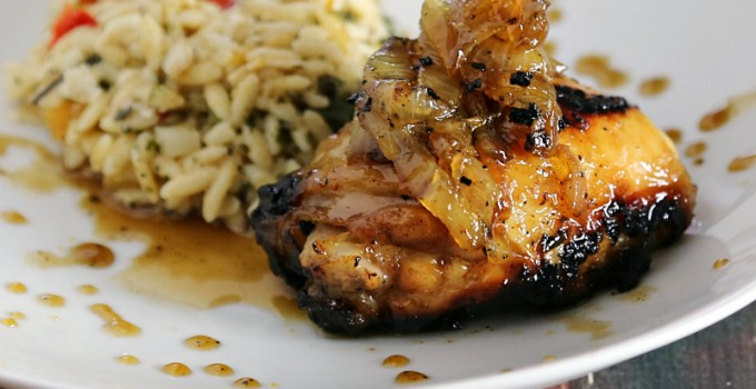 BBQ Maple Chicken and Caramelized Onions
