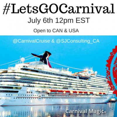 Carnival Cruise on the Magic and Twitter Chat #LetsGOCarnival
