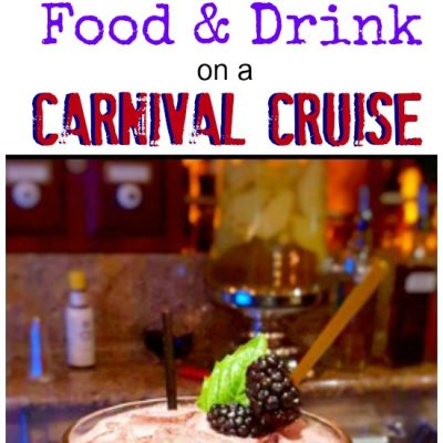 Food and Drink on a Carnival Cruise