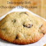Soft Chocolate Chip Cookies soberjulie slider