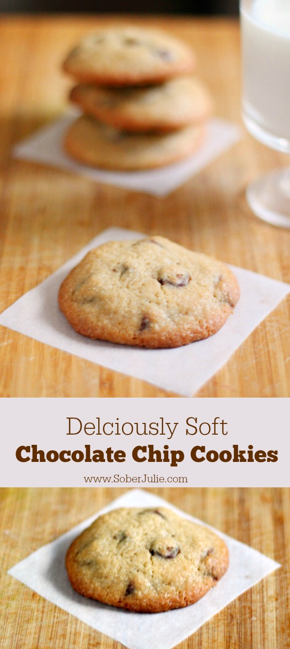 deliciously soft chocolate chip cookies recipe soberjulie