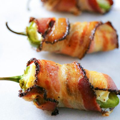 Bacon Wrapped Jalapeno Popper Appetizer Recipe