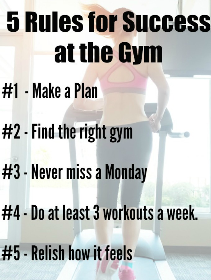 5 Rules for Success at the Gym