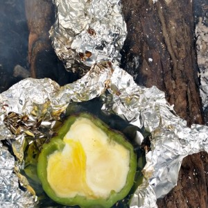 Cooking Eggs on a Campfire? Eggs in Green Peppers on the Campfire #BBFEggs