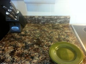 Granite look counter