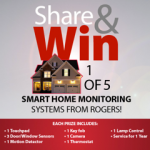 Win 1 of 5 #RogersSmartHome Monitoring Systems($1500value)
