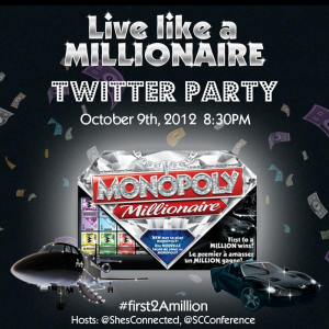 millionaire monopoly twitter party