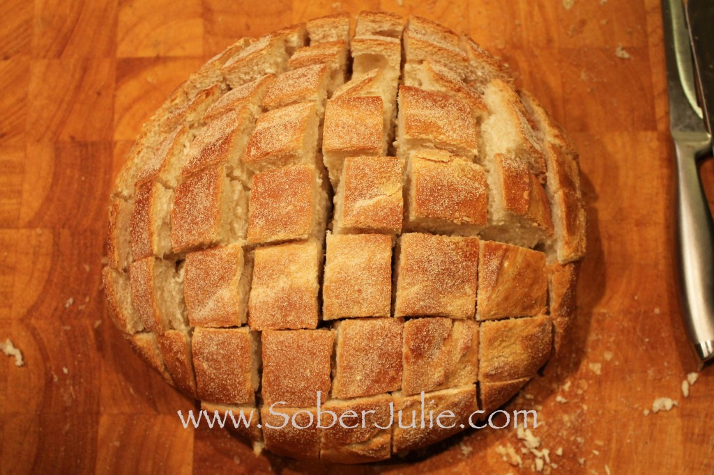 Blooming Garlic Bread Cut