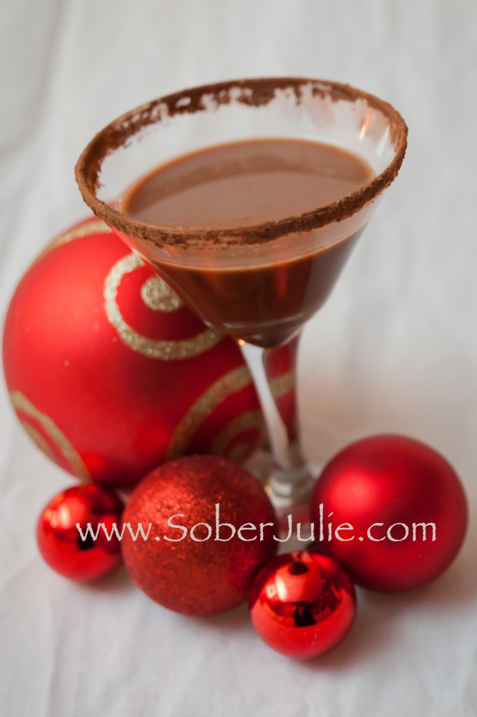 Cocoa Mock-Tini Chocolate Mocktail | Non-Alcoholic Holiday Drink Recipes For All To Enjoy