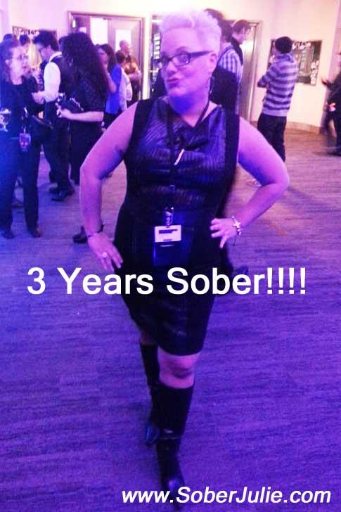 3 years sober julie