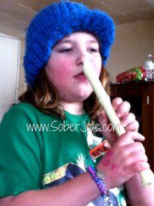 Motherhood Playing recorder