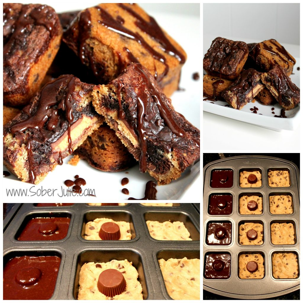 Peanut Butter Brownie Cookie Collage
