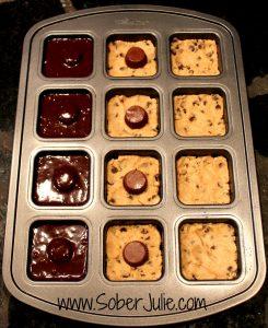 Peanut Butter Brownie Cookie Pan WM